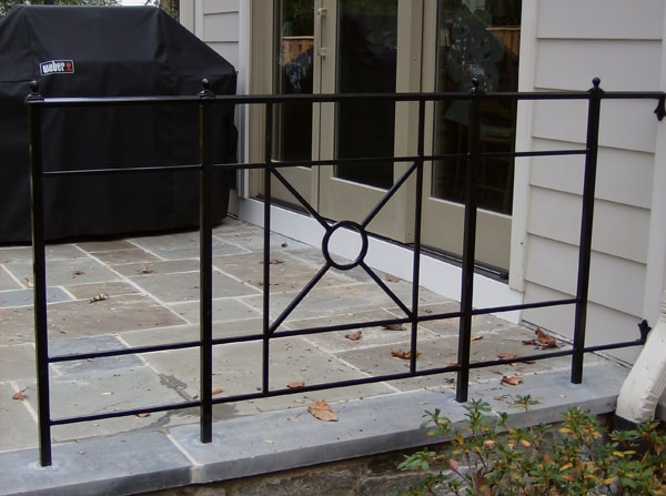 Detailed Patio Railing