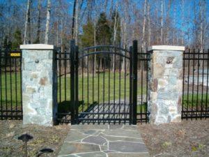 ornamental fences on fancy property