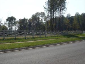 Crossbuck fencing Hercules Fence Newport News
