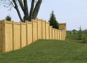 privacy fence with good side facing outwards
